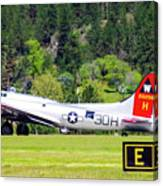 B-17 Bomber Taxiing 1 Canvas Print