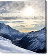 Chamonix Resort In The French Alps Canvas Print