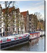 Channels Of Amsterdam Canvas Print