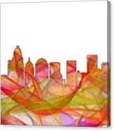 Charlotte Nc Skyline Skyline Canvas Print