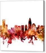Charlotte North Carolina Skyline Canvas Print
