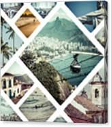 Collage Of Rio De Janeiro Canvas Print