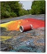 Discarded Spray Paint Can Canvas Print