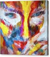 Face Paint Canvas Print