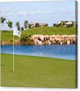 Florida Gold Coast Resort Golf Course Canvas Print
