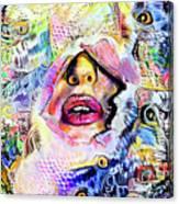 Hidden Face With Lipstick Canvas Print