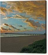 7- Juno Beach Pier Canvas Print