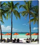 Main Beach Of Tropical Paradise Boracay Island Philippines Canvas Print