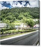 Port Of Juneau Alaska And Street Scenes Canvas Print