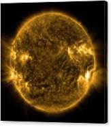 Solar Activity On The Sun Canvas Print