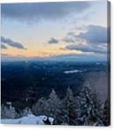 Spencer Butte Winter Summit, Eugene Oregon Feb 2018 Canvas Print