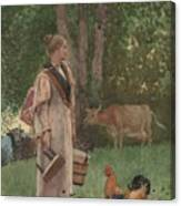 The Milk Maid Canvas Print