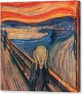The Scream Ver 1893 Edvard Munch Canvas Print