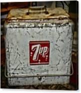 7 Up Vintage Cooler Canvas Print