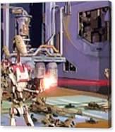 Vintage Star Wars Art Canvas Print