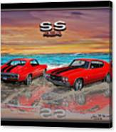 70 Chevell Ss 454 Canvas Print