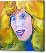 70's Blue Eyed Blonde Canvas Print