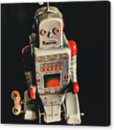 70s Mechanical Android Bot  Canvas Print