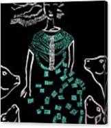 Dinka Bride South Sudan Canvas Print