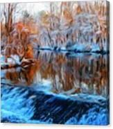 Landscape Drawing Nature Canvas Print