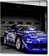 7763 Nissan Tuning Race Cars Blue Cars Selective Coloring Canvas Print