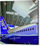 787 Tail Section Canvas Print