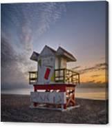 7898- Miami Beach Sunrise Canvas Print