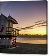 7901- Miami Beach Sunrise Canvas Print