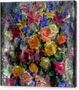 7a Abstract Floral Painting Digital Expressionism Canvas Print