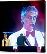 Andrea Bocelli In Concert Canvas Print