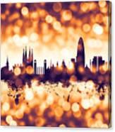 Barcelona Spain Skyline Canvas Print