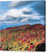 Beautiful Autumn Landscape In North Carolina Mountains Canvas Print