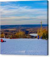 Beautiful Winter Landscape At Timberline West Virginia Canvas Print