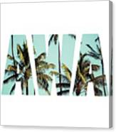 Coconut Palm In Hawaii, Usa. Canvas Print