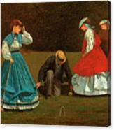 Croquet Scene Canvas Print