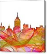 Fresno California Skyline Canvas Print