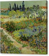 Garden At Arles Canvas Print