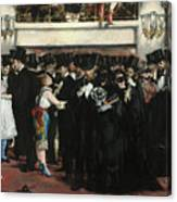 Masked Ball At The Opera Canvas Print