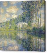 Poplars, On The Epte Canvas Print