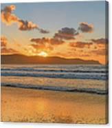 Sunrise Seascape At The Beach Canvas Print