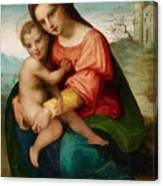 The Virgin And Child Canvas Print