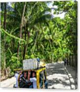 Tuk Tuk Trike Taxi Local Transport In Boracay Island Philippines Canvas Print