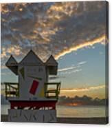 8003- Miami Beach Sunrise Canvas Print
