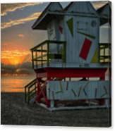 8097- Miami Beach Sunrise Canvas Print