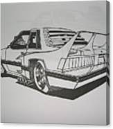 80s Mustang - Rear View Canvas Print