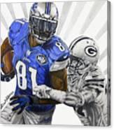 #81 Calvin Johnson Canvas Print