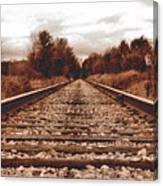 86ed On The Tracks Canvas Print