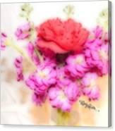 #8742 Soft Flowers Canvas Print
