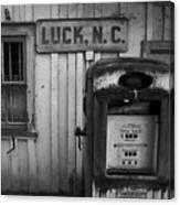 Luck Gas Pump Canvas Print