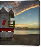 8990- Miami Beach Sunrise Canvas Print